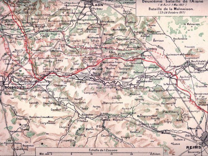 1180/26 octobre 1917: résumé historique de la bataille de la Malmaison (Aisne)