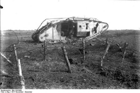 1205/20 novembre 1917: (vidéo) la bataille de chars de Cambrai (20 novembre- 6 décembre 1917)