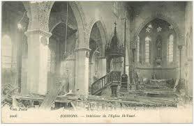 1233/18 décembre 1917: l'église de Saint Vaast de Béthune (62) bombardée