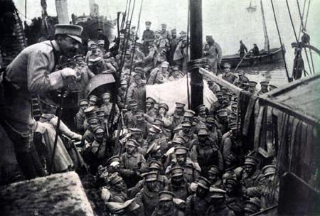 1261/15 janvier 1918: le premier corps expéditionnaire portugais débarque à Brest