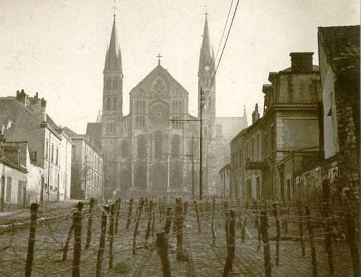 1273/27 janvier1918: vue de l'esplanade Fléchambault