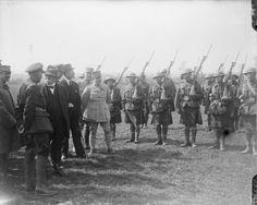 1257/11 janvier 1918: Des soldats noirs américains de la 93edivision d'infanterie dans l'armée française