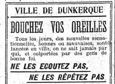 En 1918, le maire de Dunkerque appelait (déjà) à combattre les «Fake News»