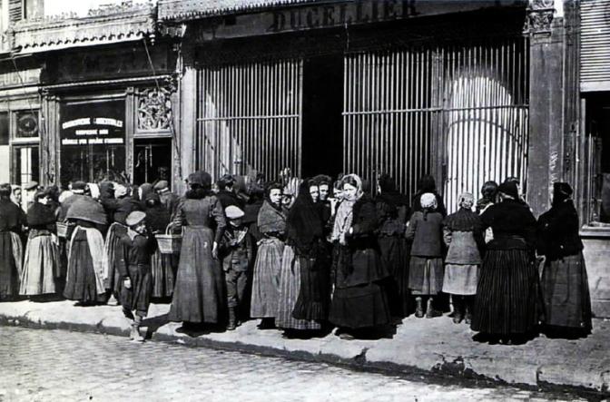 1295/18  février 1918: mise en place des cartes d'alimentation