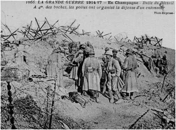 1290/13 février 1918: en Champagne les Français font plus de 100 prisonniers