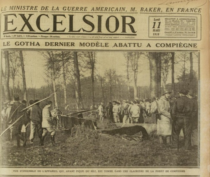 1316/11 mars 1918: (suite)souvenir du bombardement de Paris par Gotha