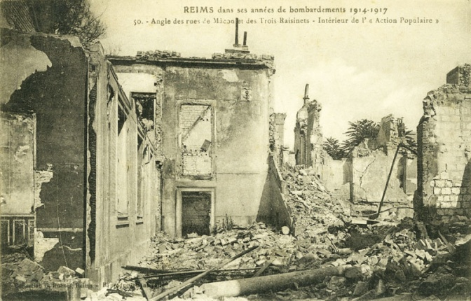 1338/2 avril 1918: carte postale de Reims