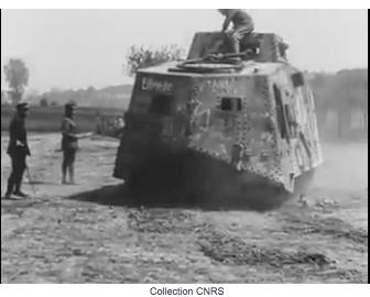 1384/18 mai 1918: le char allemand Elfriede présenté au sous-secrétaire d'Etat aux inventions