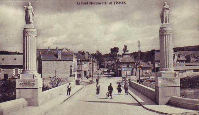 1394/28 mai 1918: destruction du pont de Fismette (Marne)