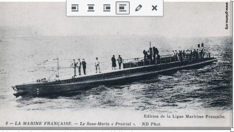 1365/29 avril 1918: le sous-marin Prairial éperonné au Havrepar le vapeur… Anglais «Tropic»