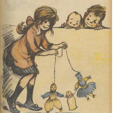 1431/4 juillet 1918: Poulbot invente les poupées Nénette et Rintintin