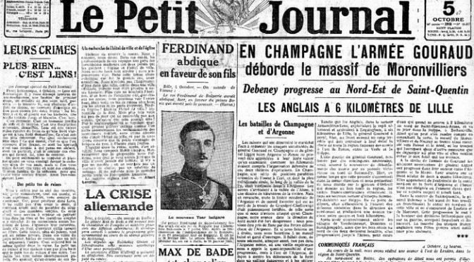 1537/17 octobre 1918: Albert Londres témoin de la libération de Lille