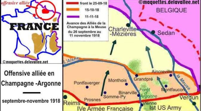 1516/26 septembre 1918: offensive Française en Champagne et en Argonne